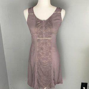 Monoreno womens sleeveless dress-slate gray size M